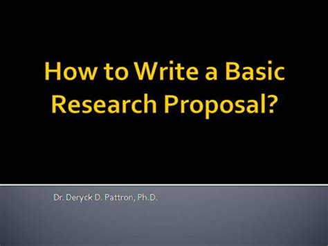 Explain the main content of research proposal